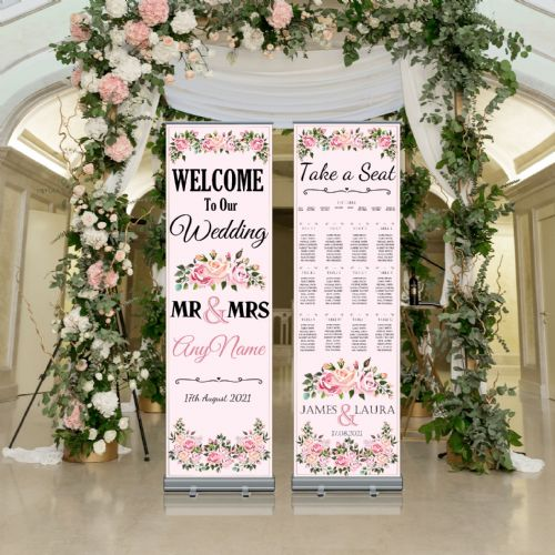 Wedding Roller Banner N1 - Welcome to our Wedding / Table Seating Plan